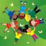 niños día del niño en círculo