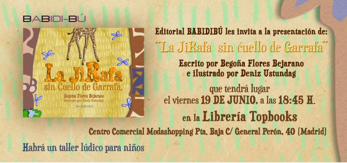 Invitación presentación.La Jirafa sin Cuello de Garrafa.